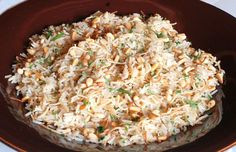 Lebanese Rice with Pine Nuts #rice #sides #dinner #pinenuts #pasta #sidedishes #Lebanese
