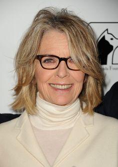 Diane Keaton - Pictures of Female Celebrities Wearing Glasses | POPSUGAR Fashion UK