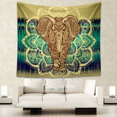 Elephant Tapestry, Mandala wall tapestry,Hippie tapestry wall hanging, bohemian wall tapestries, Boho tapestries, Ethnic bohemian decor