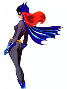 "Batgirl ""Batman"" by Bruce Timm. Comic Book Characters, Comic Character, Comic Books Art, Comic Art, Character Design, Bruce Timm, Batman Kunst, Batman Art, Gotham Batman"