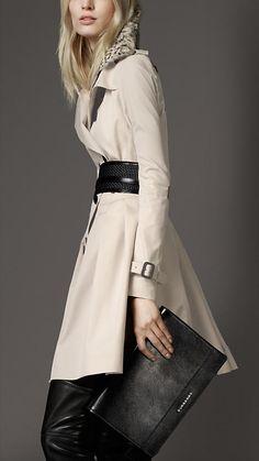 Gabardine, Coat, Burberry #cute