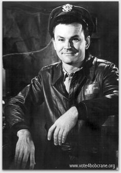 Bob Crane as Colonel Hogan in a promotional photo for Hogan's Heroes.