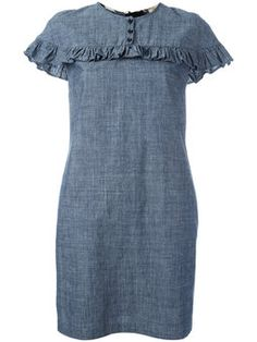 платье с отделкой оборками