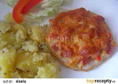 Celerová kolečka zapečená recept - TopRecepty.cz Mashed Potatoes, Cauliflower, Meat, Chicken, Vegetables, Ethnic Recipes, Food, Beef, Cauliflowers