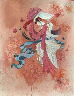 Mongol zurag Mungunzul Asian Art, Medieval, Princess Zelda, Painting, Korea, Calligraphy, House Design, Fictional Characters, Beautiful