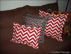 pillows...not that flowered one..lol