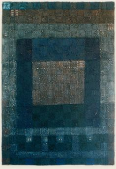♂ color inspiration neutral blue and grey Textile Mixed Media Art, Artist Study with thanks to  HAYASHI Takahiko