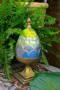 Modern Masters Metallic paints glam up metal garden accents | Modern Masters Cafe Blog