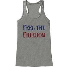 Custom Party Shop Women's Feel The Freedom 4th of July Grey Tank Top