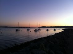 Sunset from Shelter Island, San Diego, CA