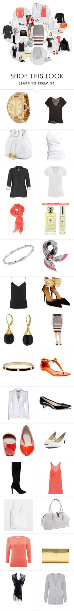 """Love my stripped skirt with everything!!!"" by carladresser ❤ liked on Polyvore featuring Michael Kors, VanessaMorin, Calypso St. Barth, Soaked in Luxury, Talula, Étoile Isabel Marant, Forever 21, Elizabeth and James, Jo Malone and Amorium"