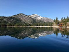 Donner Lake this morning was like a sheet of glass...