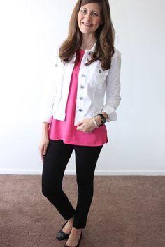 white denim jacket … | Denim Jackets | Pinterest | White denim and ...