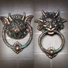 Hand made fantasy knockers sculptures by chrisandrescreations