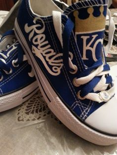 Kansas city Royals fan shoes for kids...Free by RubyRoseslippers