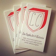 Lisa Congdon's letterpress business cards