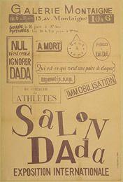 Tzara, Poster for Salon Dada, Exposition Internationale