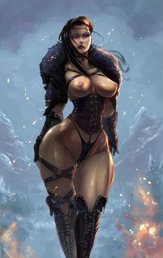 Skyrim OC commission by cutesexyrobutts.deviantart.com on @DeviantArt - More at https://pinterest.com/supergirlsart #female #fantasy #art