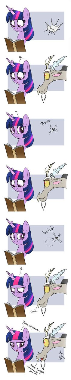 MLP FIM comic - Discord Annoy Princess Twilight by Joakaha on DeviantArt