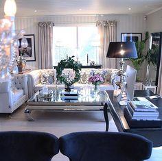 Living Room Ideas | Deep Blue | Armchairs | Lamp | Lighting | Chic | Gorgeous | Interior Design | More inspirations at https://brabbu.com/