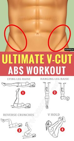 Ultimate V-Cut Abs Workout. #workout #gym #fitness #abs #absworkout #bodyhiitworkout