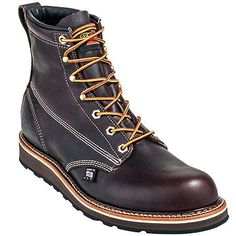 Thorogood Boots Men's 814-4516 USA Made Goodyear Welt EH Wedge Sole Wo