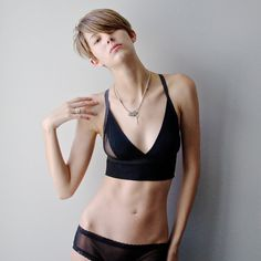 Consecutive Crop Top Black by Sophiehines on Etsy
