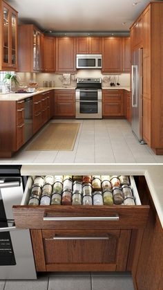 A kitchen that looks great & functions even better makes cooking that much more enjoyable! IKEA SEKTION kitchen interior organizers help to keep even the smallest items, like utensils and spices, neat and organized.