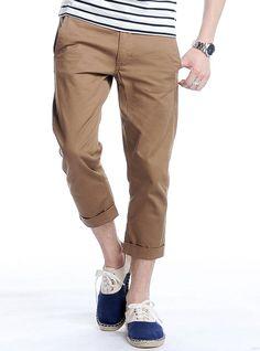 Amazon.co.jp: クロップドパンツ チノパン メンズ チノパンツ 男性 DSP05245: 服&ファッション小物通販