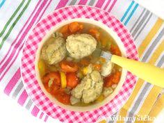 Jednoduché zdravé recepty pro děti a dospělé Baby Food Recipes, Soup, Yummy Food, Chicken, Baking, Baby Foods, Recipes For Baby Food, Delicious Food, Bakken