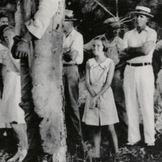 Young girl at the lynching of Rubin Stacey in Ft. Lauderdale on July 19, 1935. the look on her face says soo much