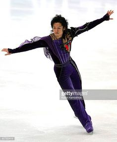 Daisuke Takahashi performs in the Men Free skating program during the Japan Open 2008 Figure Skating at Saitama Super Arena on April 20 2008 in...