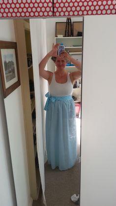 Das bin ich mit meinem ersten selbstgenähten Sommerkleid That is my with my first DIY summerdress