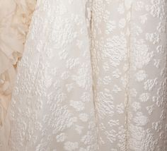 """Aida"" Amsale Fall 2015 - Corset bodice fit to flare gown in silk floral jacquard.  http://amsale.com/bridal/#aida"