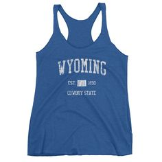 Vintage Wyoming WY Women's Racerback Tank Top