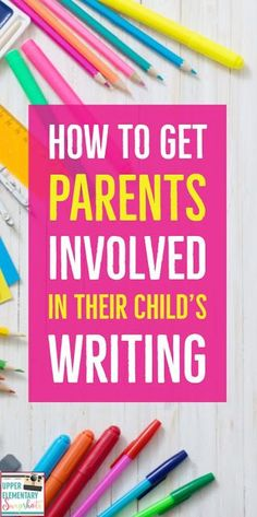 These writing ideas are perfect for keeping parents involved. Get parents involved in the writing process, writing portfolios, and even writing homework! (I love this idea for writing homework! Kindergarten Writing, Kids Writing, Writing A Book, Writing Ideas, Easy Writing, Paragraph Writing, Narrative Writing, Persuasive Writing, Teaching Grammar