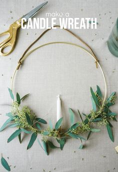 Make a Candle Wreath | Francois et Moi