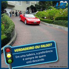 O card #VouF especial pelo #DiaDoTrânsito. Sabe a respostas?