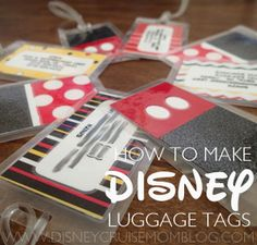 How to Make Disney Luggage Tags