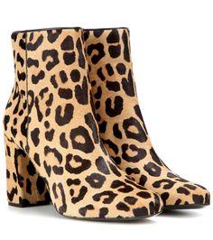 Saint Laurent Babies 90 printed calf hair ankle boots Leopard      $169.00