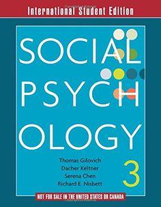 Social Psychology (3rd Edition) by Tom Gilovich et al. Extra copy. http://search.lib.cam.ac.uk/?itemid=|collpwdb|673871
