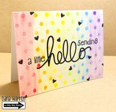 The Alley Way Stamps - Dana Warren - TAWS Clear Stamps Cards Big Chatter