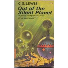 Out of the Silent Planet by CS Lewis. First book in Lewis' sci fi trilogy.