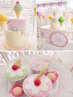 Ice Cream Themed 1st Birthday Party