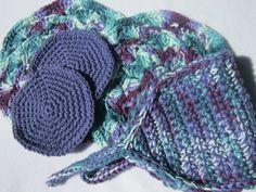 Crochet Spa Set  Wash Cloths Facial Cloths by crochetedbycharlene, $18.00