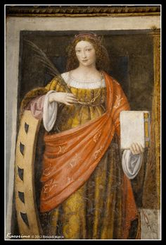Fill your eyes with colors and listen to an organ concert in San Maurizio Italiano San Maurizio al Monastero Maggiore si tr. Renaissance Image, Renaissance Portraits, Italian Renaissance, Renaissance Costume, St Catherine Of Alexandria, Female Profile, Italian Painters, Santa Lucia, Old Paintings