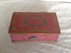 Vintage Canco Louis Sherry Tin New York Advertising Candy Metal Box