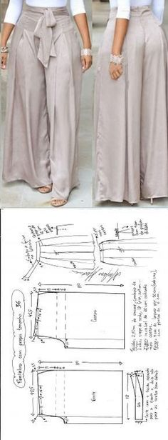 Calça Pantalona com pregasFat ass looks bad in pants like thisDiscover thousands of images about FREE Sewing Patterns - Pants & SkirtsMany beginners in sewing often argue that they do not have any need for special sewing furniture. Diy Clothing, Clothing Patterns, Dress Patterns, Sewing Patterns, Sewing Ideas, Fashion Sewing, Diy Fashion, Ideias Fashion, Fashion Outfits