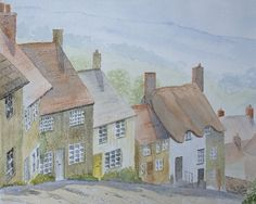 Shaftesbury, watercolour painting