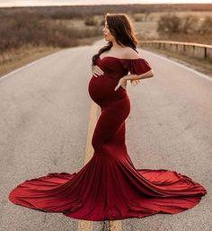 Burgundy Maternity Dress, Maternity Shoot Dresses, Elegant Maternity Dresses, Maternity Photo Outfits, Maternity Pictures, Mermaid Maternity Dress, Maternity Maxi, Maternity Session, Formal Dresses
